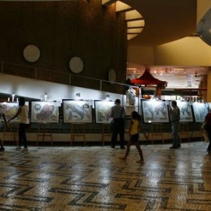 Stein Mapas in exhibition on the Cultural Space of the National Group (Espaço Cultural Conjunto Nacional)