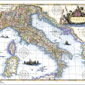 Construction of the Map of Italy XVII century