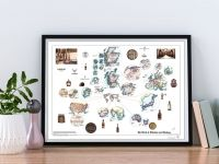 The World of Whiskeys and Whiskies - Colorful